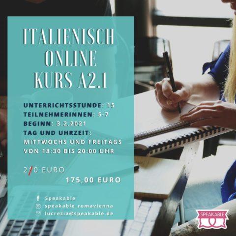 Italienisch Online Kurs A2