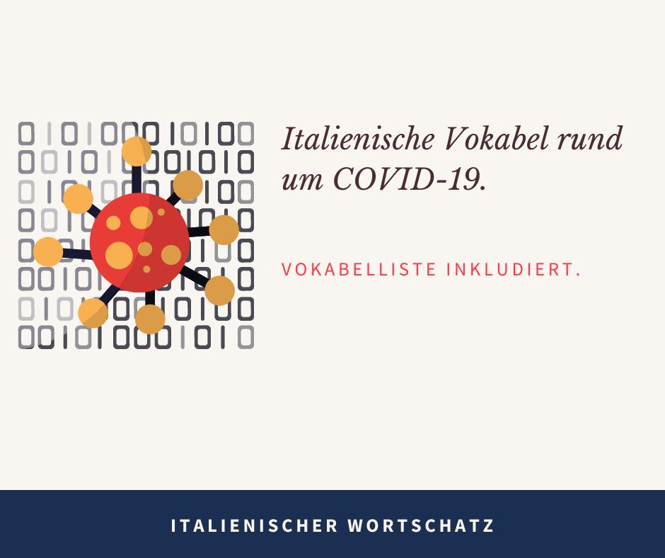 Italienische Vokabeln rund um Covid-19